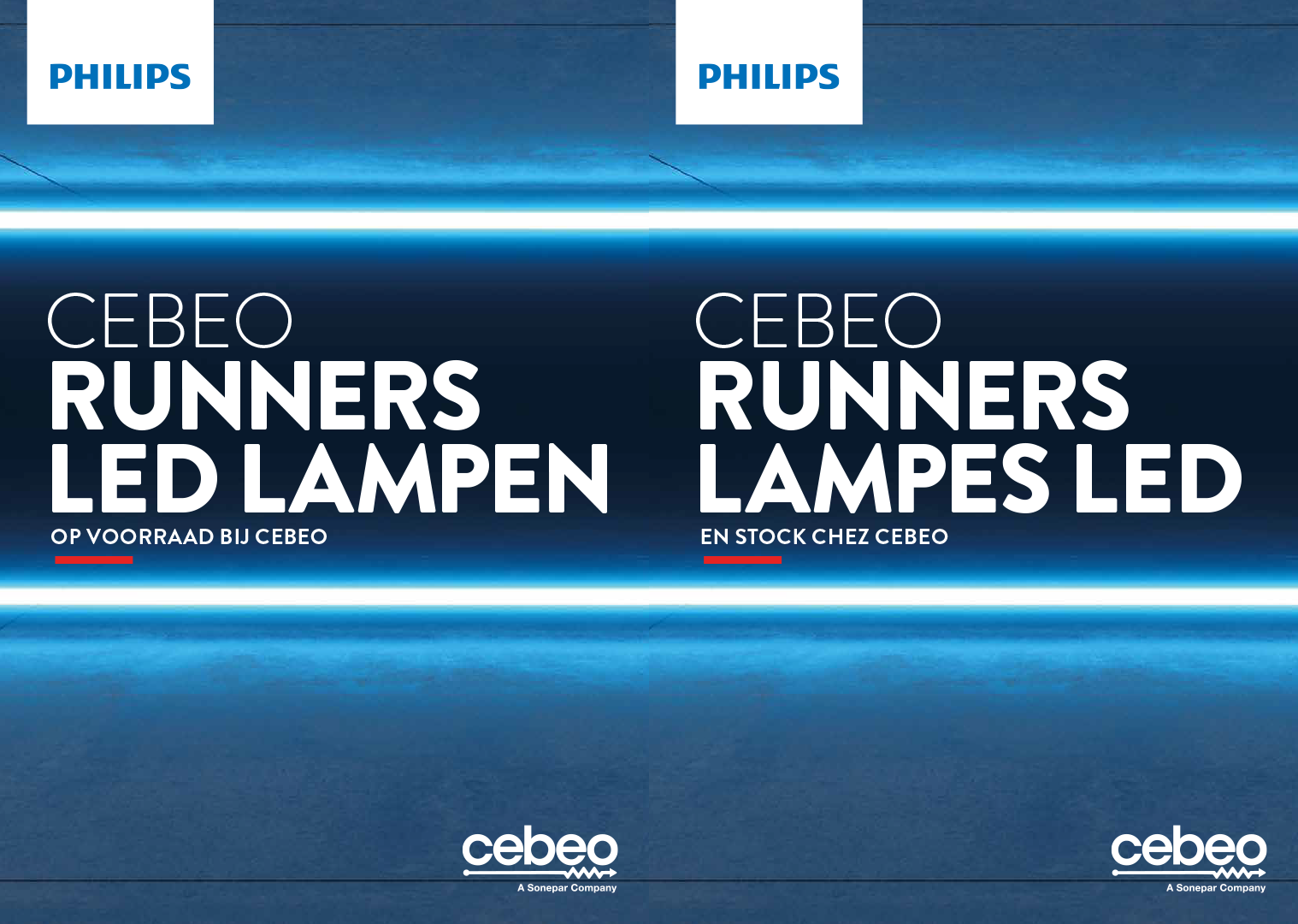 Cebeo runners lampes LED - Philips